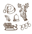 Christmas and new year objects collection vector