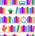 Bookshelf seamless vector