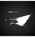 Milk splash isolated on black background vector