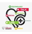 Social like infographic keywords vector