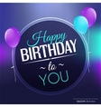 Birthday card in bright colors vector