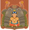 Girl india goddess vector