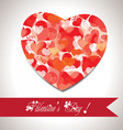 Valentine gift hearts card and banner vector
