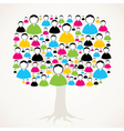 Colorful social media network tree stock vector