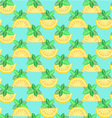Citrus seamless pattern - vector