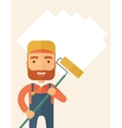 Standing glass cleaner vector