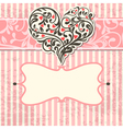 Vintage card with abstract heart vector