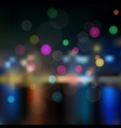 Night in city background vector