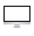 Modern computer display with blank white screen vector