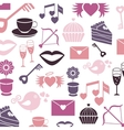Set valentines day pattern signs vector