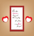 Valentine greeting banner card vector