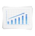Hand drawn bar graph vector