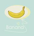 Banana yellow oval frame with an inscription vect vector