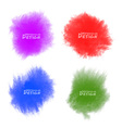 Set of colorful watercolor splatters vector