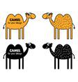 Cartoon camel vector