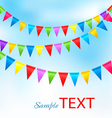 Holiday background with birthday colorful flags vector