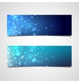 Holiday banners with sparkles vector
