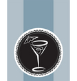 Cocktail design background vector