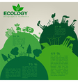 Environment ecology infographic elements vector