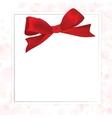 Shiny red satin ribbon vector