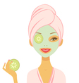 Cucumber mask vector