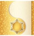 Christmas gift ball snowflake design background vector