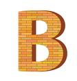 Brick letter b vector