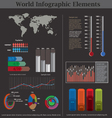 World infographic elements vector