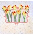 Paper beautiful tulips with polka dot eps 10 vector