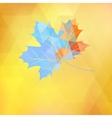 Maple leaf made of triangles eps 10 vector