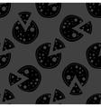 Pizza web icon flat design seamless gray pattern vector