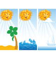 Banners with sun vector