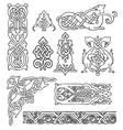 Antique old russian ornaments set vector