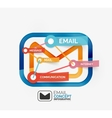Email infographics with tags vector