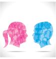 Blue men and pink women vector