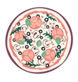 Stylized pizza vector