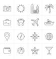 Travel and tourism icon set vector
