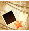 Nautical scrapbook template vector
