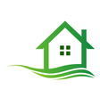 Eco house logo vector