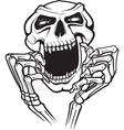 Laughing skull vector