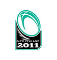 Rugby ball fern new zealand 2011 vector