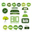 Bio - natural product green labels - tags - vector