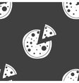 Pizza web icon flat design seamless gray pattern vector