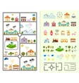 Set of elements for creating your own city vector