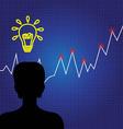Growth idea concept business chart vector