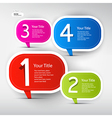 One two three four colorful paper progress steps vector