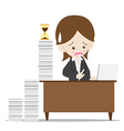 Business woman in busy time vector