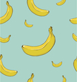 Banana yellow seamless background vector