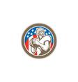 American football quarterback qb circle retro vector