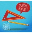 Cute school college university poster - pencil vector